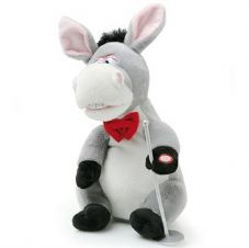ANIMATED DONKEY WITH MICROPHONE